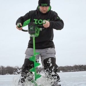 ION X Electric Ice Auger in Action