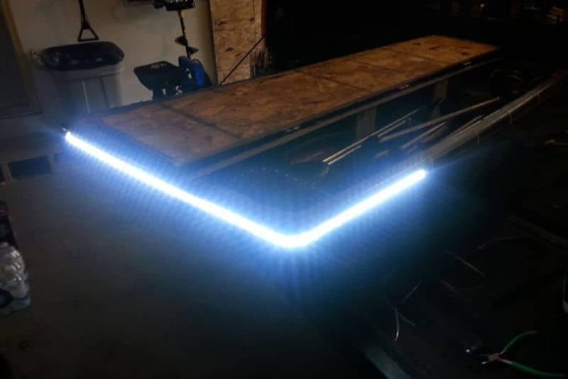 Ice Fishing Sled with LED Light Strips